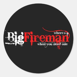 Big Fireman Classic Round Sticker