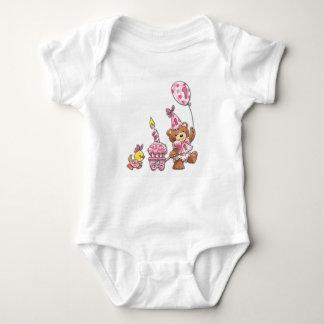 Big First Birthday Parade Baby Bodysuit