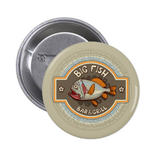 Big Fish Bar And Grill Poster Pinback Button