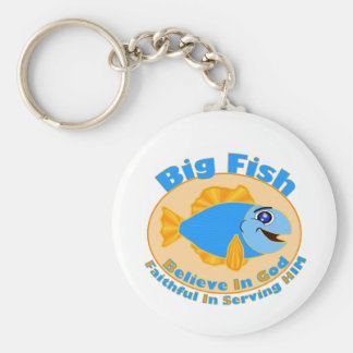 Big Fish Believe in God Keychain