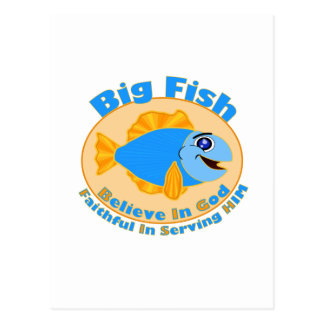 Big Fish Believe in God Postcard