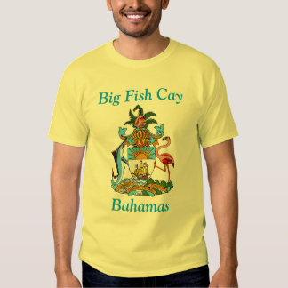 Big Fish Cay, Bahamas with Coat of Arms Tshirt