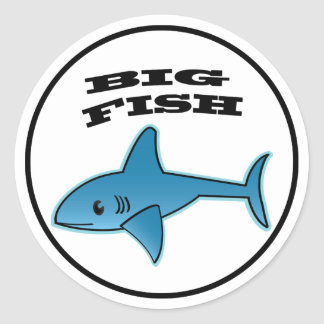 Big fish stickers zazzle for Big fish classic