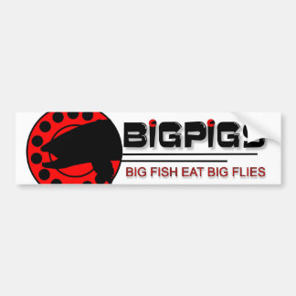 Big Fish Eat Big Flies Bumper Sticker
