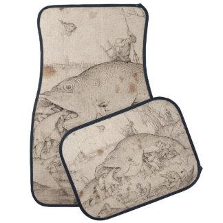 Big Fish Eat Little Fish by Pieter Bruegel Car Floor Mat