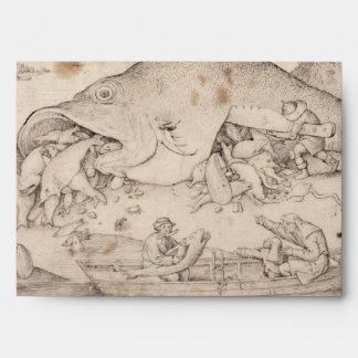 Big Fish Eat Little Fish by Pieter Bruegel Envelopes