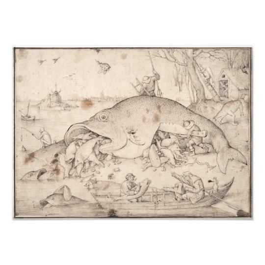 Big Fish Eat Little Fish by Pieter Bruegel Photo Print