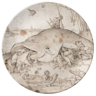 Big Fish Eat Little Fish by Pieter Bruegel Plate