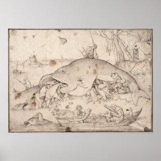 Big Fish Eat Little Fish by Pieter Bruegel Print