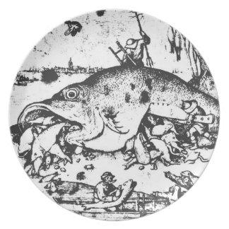 Big Fish Eat Little Fish Plate Pieter Bruegel