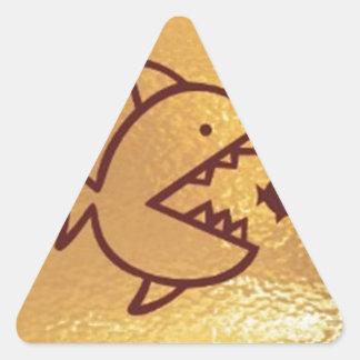 BIG fish eat  SMALL FISH Triangle Sticker
