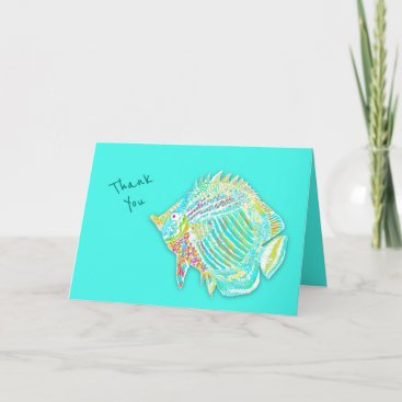 Big Fish Folded Blank Thank You Note Card