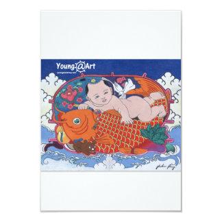 "Big Fish Greeting Card 3.5"" X 5"" Invitation Card"
