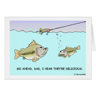 Big fish little fish card for Father s day fishing card