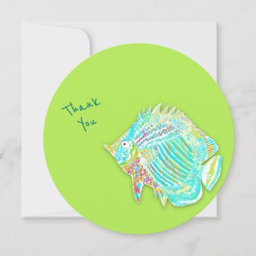 Big Fish Tropical Thank You Blank Flat Cards