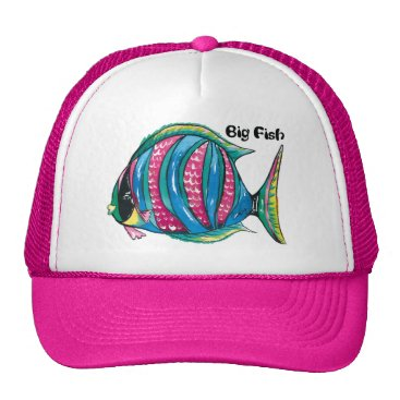 Beach Themed Big-Fish Trucker Hat