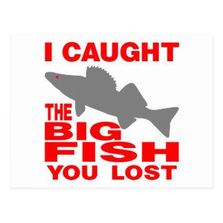 BIG FISH WALLEYE POSTCARD