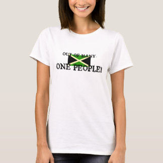 big flag, OUT OF MANY-, ONE PEOPLE! T-Shirt
