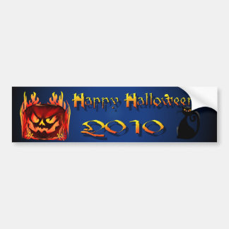 Big Flaming Pumpkin Bumper Sticker