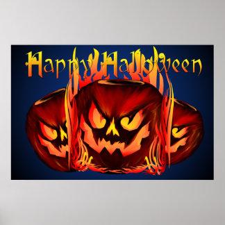 Big Flaming Pumpkin lettered Posters