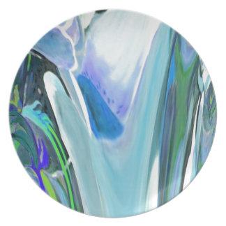 Big Flower Fractal Dinner Plate
