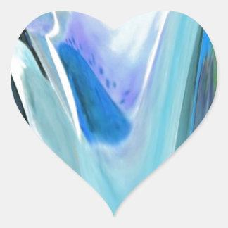 Big Flower Fractal Heart Sticker
