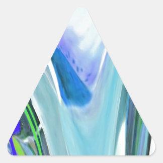 Big Flower Fractal Triangle Sticker