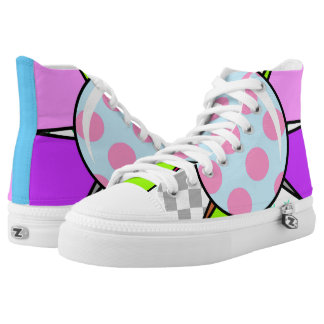 Big Flower High-Top Sneakers