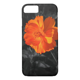 Big Flower Orange Barely There iPhone 7 Case