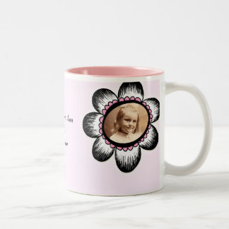 Big Flower Photo Frame Two-Tone Coffee Mug
