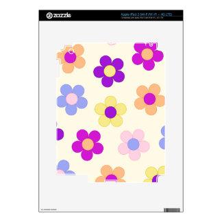 Big Flower Power Design – Yellow Background iPad 3 Skins