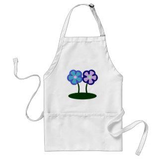 Big flowers adult apron
