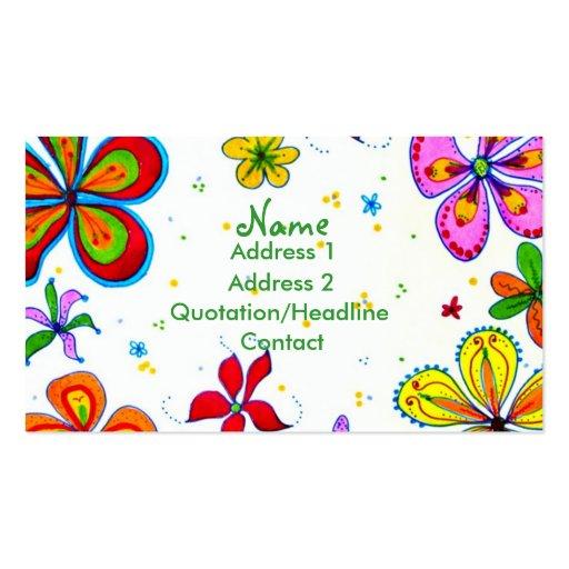 Big Flowers Art Business Card
