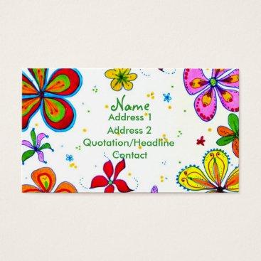 Professional Business Big Flowers Art Custom Business Card