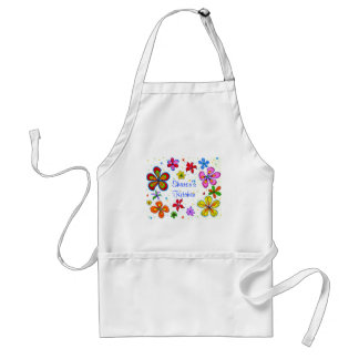 Big Flowers Art Design Adult Apron