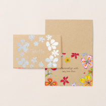 Big Flowers Artistic Foil Note Cards
