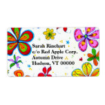 Big Flowers Artistic Shipping Labels