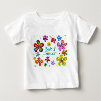 Big Flowers Baby Sister Children's Clothing Baby T-Shirt