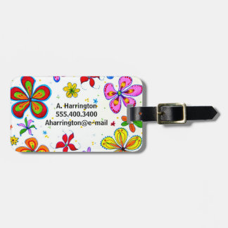 Big Flowers Double-Sided Personalized Luggage Tags