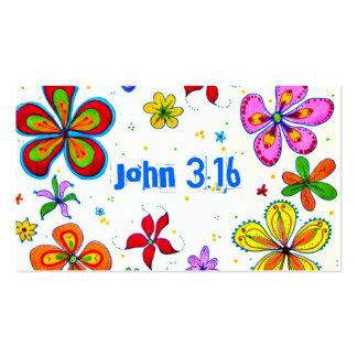 Big Flowers Scripture Memory Cards Bulk Business Card