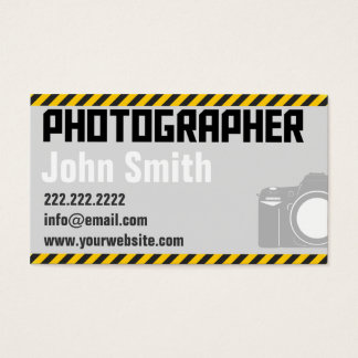 Big Fonts Simple Photographer Business Card