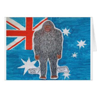 Big foot A, Australia flag Card