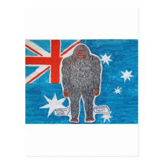 Big foot A, Australia flag Post Cards