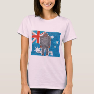 Big foot A, Australian flag. T-Shirt