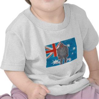 Big foot A, Australian flag. Shirt