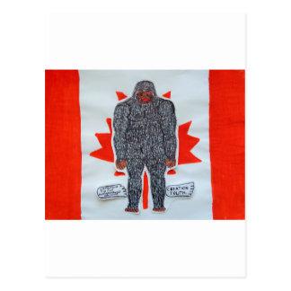 Big foot A, Canada flag Post Card