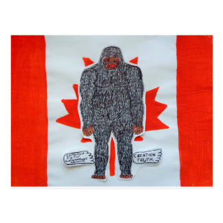 Big foot A, Canada flag Postcard