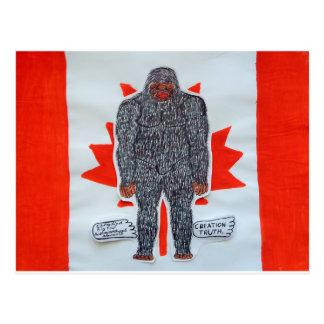 Big foot A, Canada flag Postcards