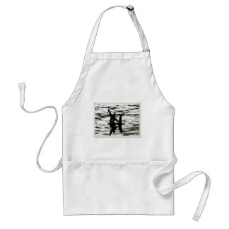 Big Foot and Bessie The lake monster sighting Adult Apron