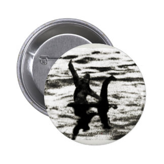 Big Foot and Bessie The lake monster sighting Pinback Button